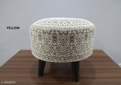 Others Other Home Decore Stool Ottoman for Living Room Sitting Printed Ottoman upholstered Foam Cushioned pouffe Puffy for Foot Rest Home Diwali or Deepawali Furniture with 4 Wooden Legs Diameter - 16 Inches, Height - 14 Inches; [Set Size] Set of 1 Stool. [Country of Origin] Made in India.  *USAGE* [1] These Stools can be used as a sitting pouf in a Living Room, placing them with the Sofa Set Furniture; [2] The round pouf can also be used as a foot rest for relaxing your feet; [3] The Ottoman Puffy can be used as an extra sitting in the Bed Room or as a Stool for Dressing table or make up room; [4] Can be used for sitting in a lounge, cafe, boutique, restaurants or bars.  *SPECIAL FINISHES, WASH CARE & DISCLAIMER * [1] Load Bearing - upto 120 Kgs; [2] No. of Legs - 4; [3] Spot Clean the fabric if required; [4] Vacuum Cleaning & Wiping with Dry Cloth is recommended; [5] Do not expose the fabric to direct sun light for long hours.  *Sizes*  Free Size   *Dispatch* 2-3 Days  *Sizes Available* Free Size *    Catalog Name: Other Home Decor CatalogID_1902432 C80-SC1256 Code: 9831-10440341-