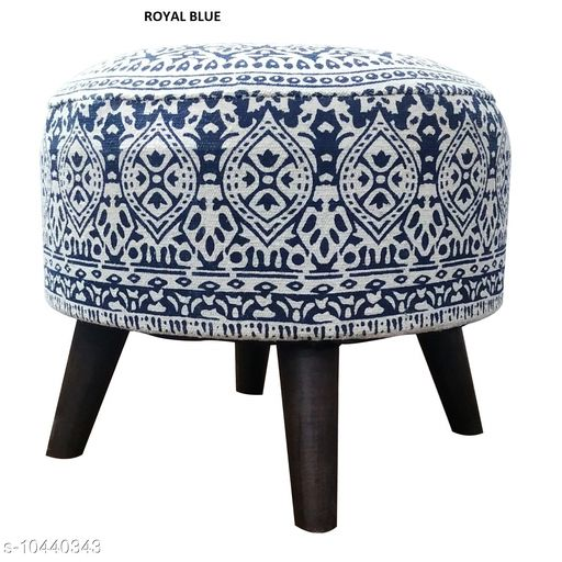Others Other Home Decore Stool Ottoman for Living Room Sitting Printed Ottoman upholstered Foam Cushioned pouffe Puffy for Foot Rest Home Diwali or Deepawali Furniture with 4 Wooden Legs Diameter - 16 Inches, Height - 14 Inches; [Set Size] Set of 1 Stool. [Country of Origin] Made in India.  *USAGE* [1] These Stools can be used as a sitting pouf in a Living Room, placing them with the Sofa Set Furniture; [2] The round pouf can also be used as a foot rest for relaxing your feet; [3] The Ottoman Puffy can be used as an extra sitting in the Bed Room or as a Stool for Dressing table or make up room; [4] Can be used for sitting in a lounge, cafe, boutique, restaurants or bars.  *SPECIAL FINISHES, WASH CARE & DISCLAIMER * [1] Load Bearing - upto 120 Kgs; [2] No. of Legs - 4; [3] Spot Clean the fabric if required; [4] Vacuum Cleaning & Wiping with Dry Cloth is recommended; [5] Do not expose the fabric to direct sun light for long hours.  *Sizes*  Free Size   *Dispatch* 2-3 Days  *Sizes Available* Free Size *    Catalog Name: Other Home Decor CatalogID_1902432 C80-SC1256 Code: 9831-10440343-