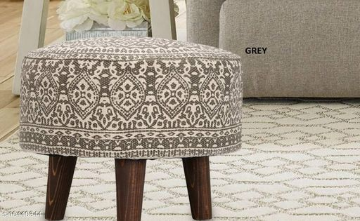 Others Other Home Decore Stool Ottoman for Living Room Sitting Printed Ottoman upholstered Foam Cushioned pouffe Puffy for Foot Rest Home Diwali or Deepawali Furniture with 4 Wooden Legs Diameter - 16 Inches, Height - 14 Inches; [Set Size] Set of 1 Stool. [Country of Origin] Made in India.  *USAGE* [1] These Stools can be used as a sitting pouf in a Living Room, placing them with the Sofa Set Furniture; [2] The round pouf can also be used as a foot rest for relaxing your feet; [3] The Ottoman Puffy can be used as an extra sitting in the Bed Room or as a Stool for Dressing table or make up room; [4] Can be used for sitting in a lounge, cafe, boutique, restaurants or bars.  *SPECIAL FINISHES, WASH CARE & DISCLAIMER * [1] Load Bearing - upto 120 Kgs; [2] No. of Legs - 4; [3] Spot Clean the fabric if required; [4] Vacuum Cleaning & Wiping with Dry Cloth is recommended; [5] Do not expose the fabric to direct sun light for long hours.  *Sizes*  Free Size   *Dispatch* 2-3 Days  *Sizes Available* Free Size *    Catalog Name: Other Home Decor CatalogID_1902432 C80-SC1256 Code: 9831-10440344-