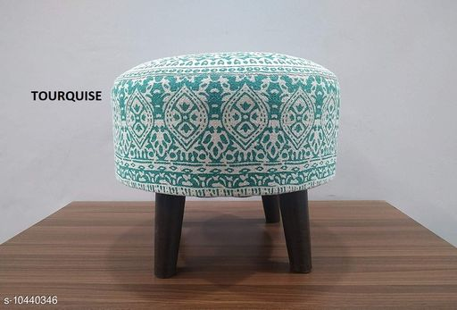 Others Other Home Decore Stool Ottoman for Living Room Sitting Printed Ottoman upholstered Foam Cushioned pouffe Puffy for Foot Rest Home Diwali or Deepawali Furniture with 4 Wooden Legs Diameter - 16 Inches, Height - 14 Inches; [Set Size] Set of 1 Stool. [Country of Origin] Made in India.  *USAGE* [1] These Stools can be used as a sitting pouf in a Living Room, placing them with the Sofa Set Furniture; [2] The round pouf can also be used as a foot rest for relaxing your feet; [3] The Ottoman Puffy can be used as an extra sitting in the Bed Room or as a Stool for Dressing table or make up room; [4] Can be used for sitting in a lounge, cafe, boutique, restaurants or bars.  *SPECIAL FINISHES, WASH CARE & DISCLAIMER * [1] Load Bearing - upto 120 Kgs; [2] No. of Legs - 4; [3] Spot Clean the fabric if required; [4] Vacuum Cleaning & Wiping with Dry Cloth is recommended; [5] Do not expose the fabric to direct sun light for long hours.  *Sizes*  Free Size   *Dispatch* 2-3 Days  *Sizes Available* Free Size *    Catalog Name: Other Home Decor CatalogID_1902432 C80-SC1256 Code: 9831-10440346-