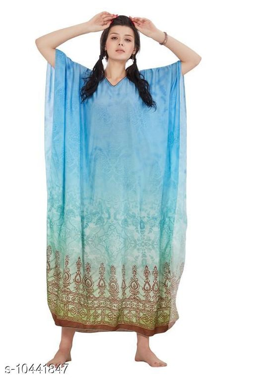 Kaftans Stylish Women's Sleepwears  *Fabric* Viscose  *Multipack* 1  *Sizes*   *S (Bust Size* 14.5 in,Length Size )  *Sizes Available* Free Size, S, 8XL, 9XL, 10XL *    Catalog Name: Stylish Women's Sleepwears CatalogID_1902802 C79-SC1009 Code: 9201-10441847-