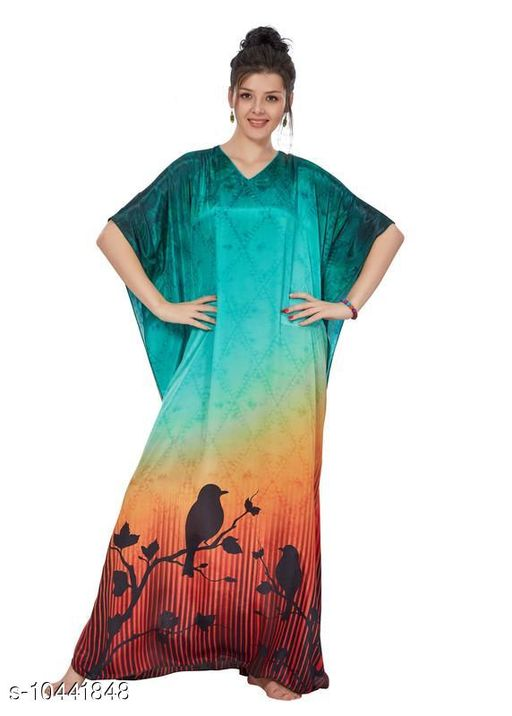 Kaftans Stylish Women's Sleepwears  *Fabric* Viscose  *Multipack* 1  *Sizes*   *XL (Bust Size* 16 in,Length Size )  *Sizes Available* Free Size, XL, 8XL, 9XL, 10XL *    Catalog Name: Stylish Women's Sleepwears CatalogID_1902802 C79-SC1009 Code: 9201-10441848-