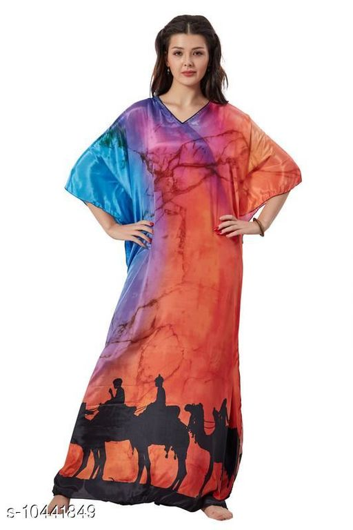 Kaftans Stylish Women's Sleepwears  *Fabric* French Crepe  *Multipack* 1  *Sizes*   *XL (Bust Size* 16 in,Length Size )  *Sizes Available* Free Size, XL, 8XL, 9XL, 10XL *    Catalog Name: Stylish Women's Sleepwears CatalogID_1902802 C79-SC1009 Code: 9201-10441849-