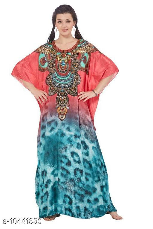 Kaftans Stylish Women's Sleepwears  *Fabric* French Crepe  *Multipack* 1  *Sizes*   *S (Bust Size* 14.5 in,Length Size  *Sizes Available* Free Size, S, 9XL, 10XL *    Catalog Name: Stylish Women's Sleepwears CatalogID_1902802 C79-SC1009 Code: 9201-10441850-