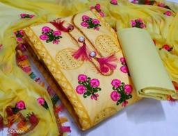 Women Dress martial Jam Cotton Yellow