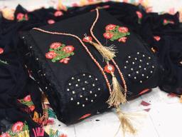 Women Dress martial Jam Cotton Black