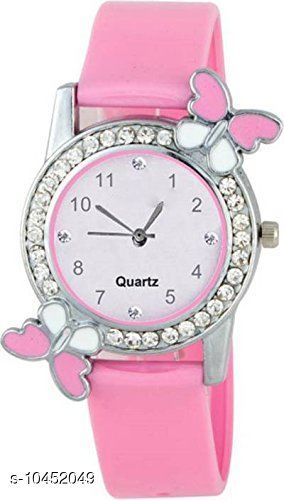 Pink color Butterfly Designed Dial Girls Watch