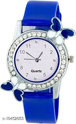 Blue color Butterfly Designed Dial Girls Watch