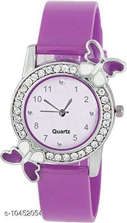 Purple color Butterfly Designed Dial Girls Watch