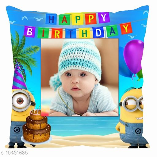 Personalized Gifts Personalized Cushion Cover with filler  *Fabric * Satin  *Pattern * Printed  *Multipack * 1  *Size * Length  *Sizes Available* Free Size *    Catalog Name: Personalized Cushion Cover with filler vol-10 CatalogID_1907533 C127-SC1810 Code: 962-10461635-