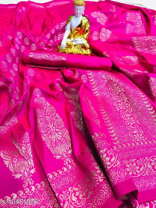Gowns Abhisarika Voguish Sarees  *Saree Fabric* Jacquard  *Blouse* Saree with Multiple Blouse  *Blouse Fabric* Jacquard  *Pattern* Woven Design  *Blouse Pattern* Woven Design  *Multipack* Single  *Sizes*   *Free Size (Saree Length Size* 5.5 m, Blouse Length Size  *Sizes Available* Free Size *    Catalog Name: Vedika Fashionable Women Gowns CatalogID_1907592 C79-SC1289 Code: 5751-10461926-