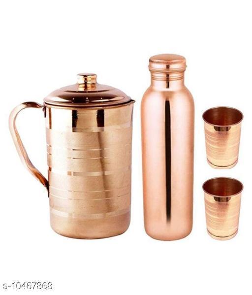 Kitchenzilla Beautiful copper Bottle jug & 2 Glass Set