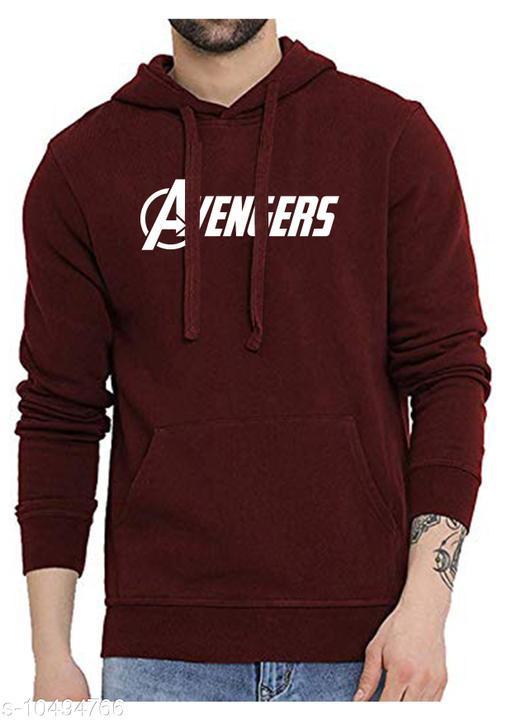 FULL AVENGER Printed Hooded Neck Sweatshirt for Men