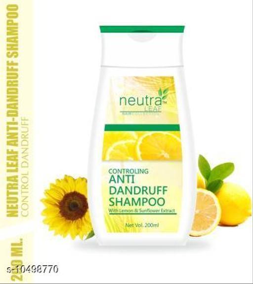 Hair Care NEUTRA LEAF Controling Anti Dandruff Hair Shampoo/Cleanser NO SLS & PARABEN For Fight Dandruff & Cleansing Scalp Men & Women (200 ml)  *Type* Shampoo  *Hair Type* All Hair Type  *Capacity* 200 ml  *Multipack* 1  *Sizes Available* Free Size *    Catalog Name:  Advanced Ultra Shampoo CatalogID_1916754 C50-SC1249 Code: 762-10498770-