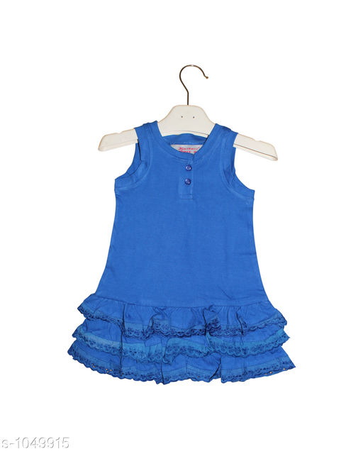 Frocks  Baby Alluring Cotton Knitted Girl's Frock  *Fabric* Cotton Knitted  *Sleeves* Sleeves Are Not Included SizeAge Group (3 Months - 6 Months) - 12 in Age Group (9 Months - 12 Months) - 14 in Age Group (12 Months - 18 Months) - 16 in Age Group (18 Months - 24 Months) - 18 in Age Group (2 - 3 Years) - 20 in  *Type* Stitched  *Description* It Has 2 Pieces Of  Girl's Frocks  *Pattern * Solid  *Sizes Available* 2-3 Years, 3-6 Months, 9-12 Months, 12-18 Months, 18-24 Months *   Catalog Rating: ★4.3 (171)  Catalog Name: Super Baby Alluring Cotton Knitted Girl's Frocks Vol 1 CatalogID_127678 C62-SC1144 Code: 112-1049915-