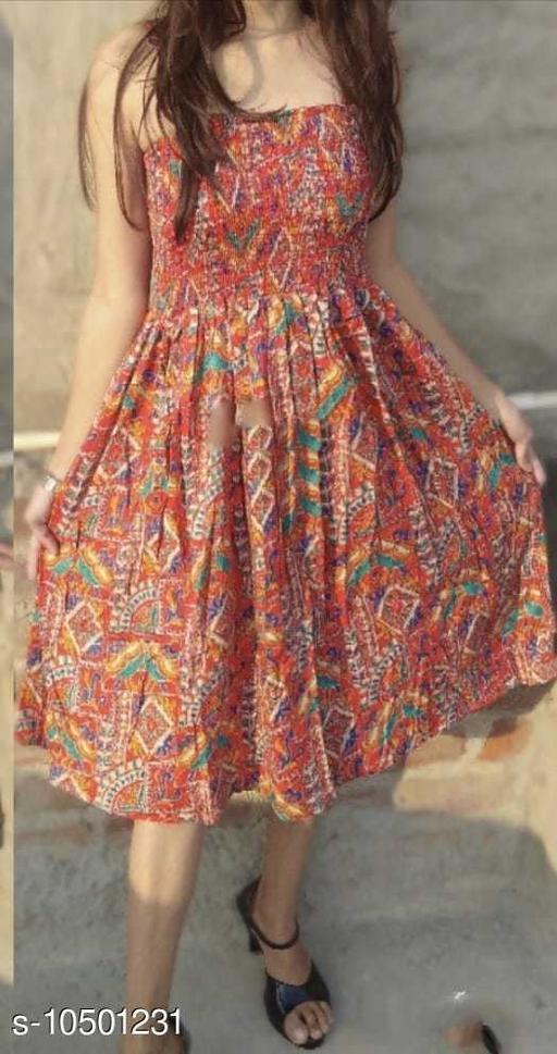 Western Fashionable Midi Consigh Dress In Floral  Print