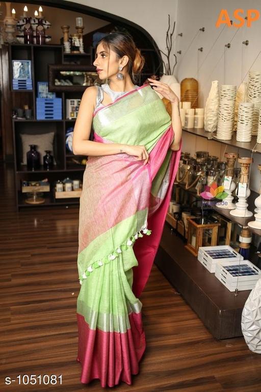 Attractive Linen Saree