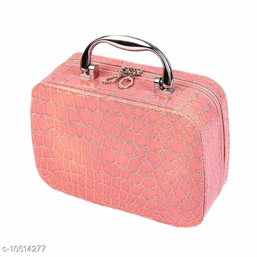 Multifunction Travel Cosmetic Make-Up Bag with Small Mirror Adjustable Dividers for Cosmetics, Makeup, Brushes (Multi Color)