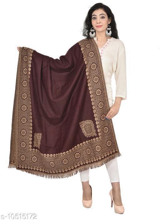 "Printed Shawl for women, Reversible Shawls (Size 40"" X 80"") (Brown Shawl)"