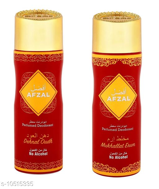 Fragrance & Deodorants  AFZAL Non Alcoholic Dehenal Oudh and Mukhallat Erum for Men & Women Pack of 2 - 200ml each  AFZAL Non Alcoholic Dehenal Oudh and Mukhallat Erum for Men & Women Pack of 2 - 200ml each Sizes Available: Free Size    Catalog Name: Check out this trending catalog CatalogID_1920676 C52-SC1304 Code: 576-10515335-