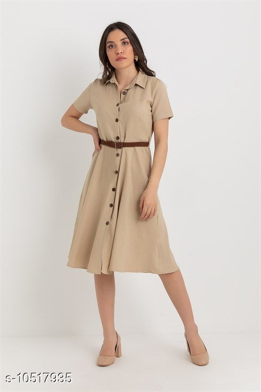latest stylish solid coloured dresses