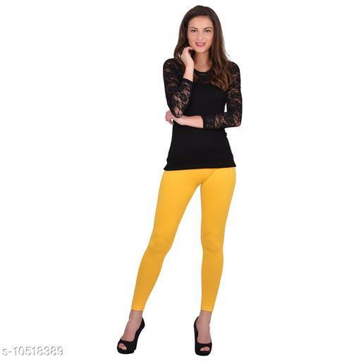 Robinbosky Premium Stretchable Cotton Lycra Banana Ankle Length Leggings For Women