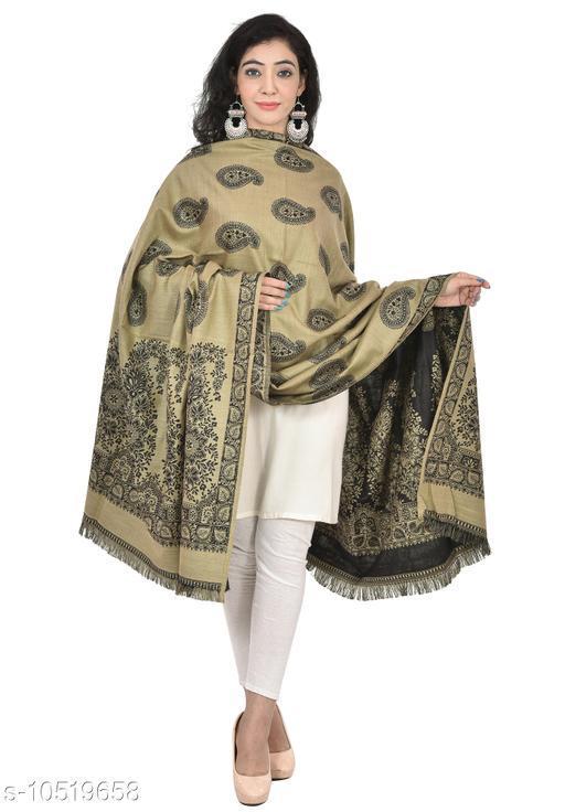 Shawls Woven Border and Paisleys All-Over Wool Shawl,  Printed Shawls (Pebble Cream Shawl)  *Fabric* Wool  *Pattern* Woven Design  *Multipack* 1  *Sizes*   *Free Size (Length Size* 2 m)  *Sizes Available* Free Size *    Catalog Name: Elegant Fancy Women Shawls CatalogID_1921769 C74-SC1011 Code: 876-10519658-