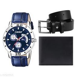 Blue Watch,Wallet,Belt For Men