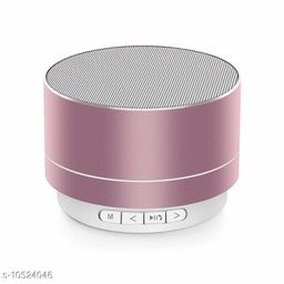 A10 Bluetooth Wireless Stereo Mini Speaker with FM, Micro SD and USB Slot Pink