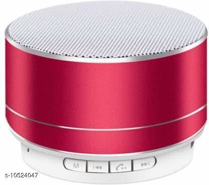 A10 Bluetooth Wireless Stereo Mini Speaker with FM, Micro SD and USB Slot Red