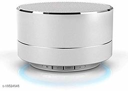 A10 Bluetooth Wireless Stereo Mini Speaker with FM, Micro SD and USB Slot Silver
