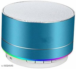 A10 Bluetooth Wireless Stereo Mini Speaker with FM, Micro SD and USB Slot Blue