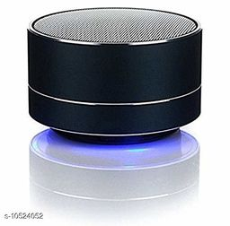 A10 Bluetooth Wireless Stereo Mini Speaker with FM, Micro SD and USB Slot Black