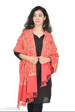 "Women's Kashmiri Aari Embroided Cashmilon Stoles, Shawls, Wraps (SIZE: 30"" X 80"")"