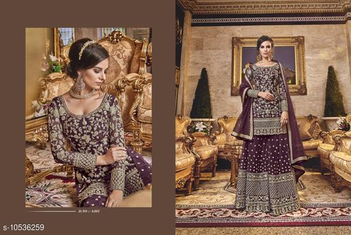 Semi Stitched Suits PUNJABI SHARARA PLAZZO KURTI SALWAR SHALWAR KAMEEZ SUIT PAKISTANI DESIGNER PARTY  *Top Fabric* Net  *Lining Fabric* Shantoon  *Bottom Fabric* Net  *Dupatta Fabric* Net  *Multipack* Pack of 4  *Sizes*   *Semi Stitched (Top Bust Size* Up To 48 in, Top Length Size  *Sizes Available* Semi Stitched *    Catalog Name: Adrika Voguish Semi-Stitched Suits CatalogID_1925649 C74-SC1522 Code: 8161-10536259-