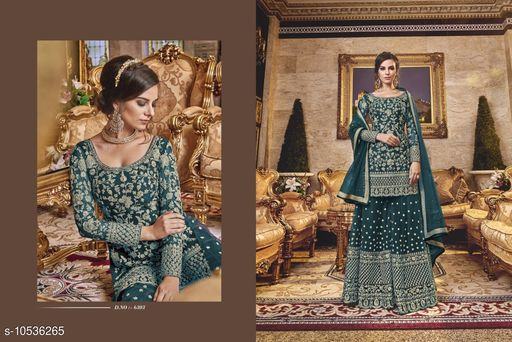 Semi Stitched Suits PUNJABI WOMEN SHARARA PLAZZO SALWAR KAMEEZ SUIT INDIAN DESIGNER PAKISTANI ETHNIC  *Top Fabric* Net  *Lining Fabric* Shantoon  *Bottom Fabric* Net  *Dupatta Fabric* Net  *Multipack* Pack of 4  *Sizes*   *Semi Stitched (Top Bust Size* Up To 48 in, Top Length Size  *Sizes Available* Semi Stitched *    Catalog Name: Adrika Voguish Semi-Stitched Suits CatalogID_1925649 C74-SC1522 Code: 8161-10536265-