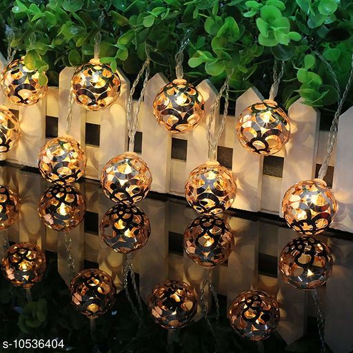 Diwali Lightings 16 led Bulbs String Crystal Ball Globe Lights IP44 Water-Resistant for Christmas Festival Party Home Decoration Lighting for Diwali Christmas Navratri Decorative Dussehra  *Product Name* 16 led Bulbs String Crystal Ball Globe Lights IP44 Water-Resistant for Christmas Festival Party Home Decoration Lighting for Diwali Christmas Navratri Decorative Dussehra  *Material* Plastic  *Multipack* 1  *Color* Yellow  *Type* LED Light  *Length* 3 Mtr  *Ball Diameter* 10 cm  *Waterproof* Yes  *Sizes*   *Sizes Available* Free Size *    Catalog Name:  Diwali Lightings CatalogID_1925679 C98-SC1377 Code: 504-10536404-