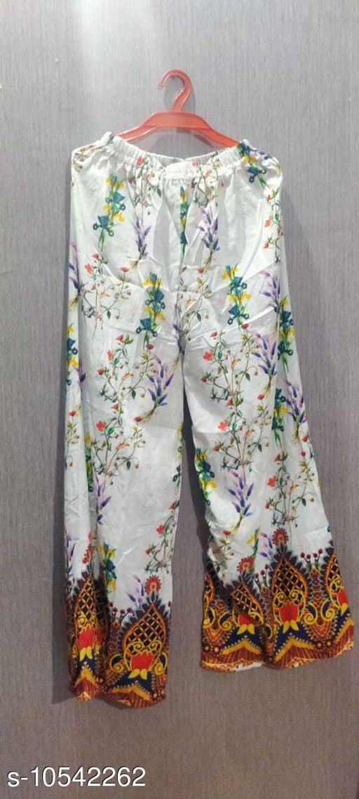 Ethnic Bottomwear - Sharara PRINTED PLAZZO FOR SUPER COLLECTION  *Sizes*   *Sizes Available* Free Size *    Catalog Name: Chitrarekha Ensemble Sharara CatalogID_1926984 C74-SC1466 Code: 853-10542262-