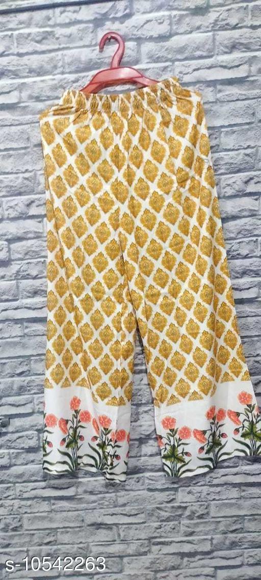 Ethnic Bottomwear - Sharara PRINTED PLAZZO FOR SUPER COLLECTION  *Sizes*   *Sizes Available* Free Size *    Catalog Name: Chitrarekha Ensemble Sharara CatalogID_1926984 C74-SC1466 Code: 853-10542263-
