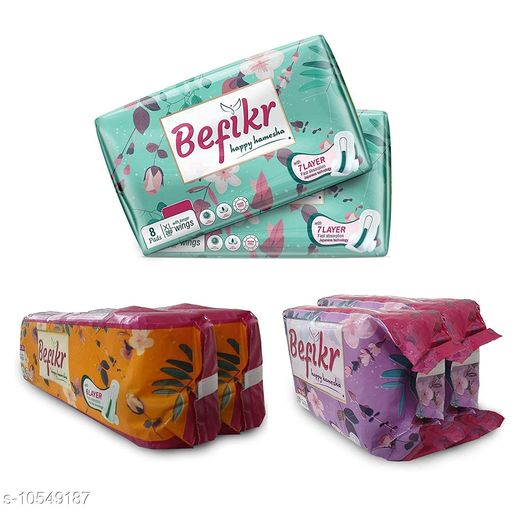 Feminine Hygiene Sanitary Pad Women's  *Type * Sanitary Pad  *Material * Soft Cotton  *Multipack * Variable ( Product Dependent )  *Size * Variable ( Product Dependent )  *Sizes Available* Free Size *    Catalog Name: Sanitary Pad Women's CatalogID_1928648 C126-SC1279 Code: 033-10549187-