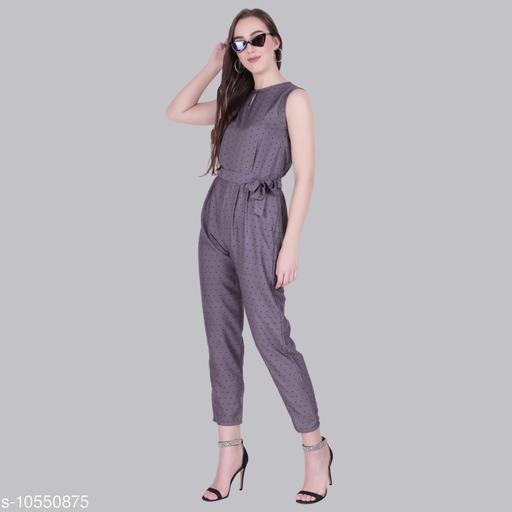 Trendy Poly Crepe Women's Jumpsuits