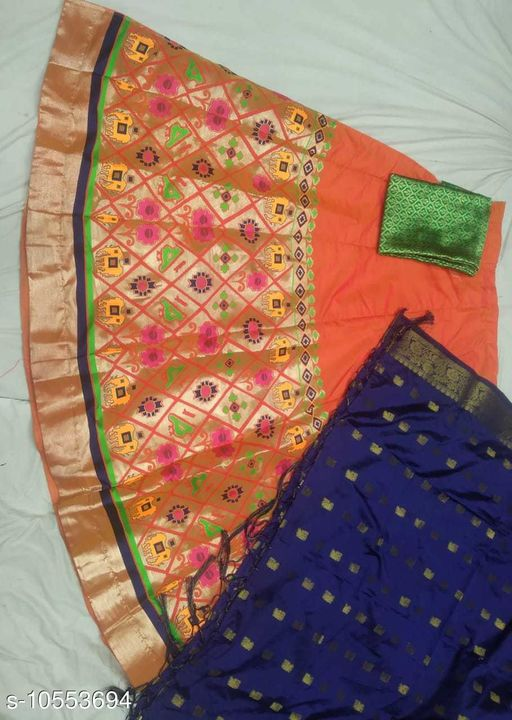 Lehengas Fancy Satin Lehenga  *Topwear Fabric* Banarasi Lehenga  *Bottomwear Fabric* Banarasi Lehenga  *Dupatta Fabric* Banarasi Lehenga  *Set type* Choli And Dupatta  *Sizes*   *Semi Stitched (Lehenga Waist Size* 40 in, Lehenga Length Size  *Sizes Available* Semi Stitched *    Catalog Name: Aagyeyi Pretty Women Lehenga CatalogID_1929793 C74-SC1005 Code: 3581-10553694-