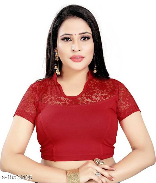 Readymade blouse with shirt collar in attractive design