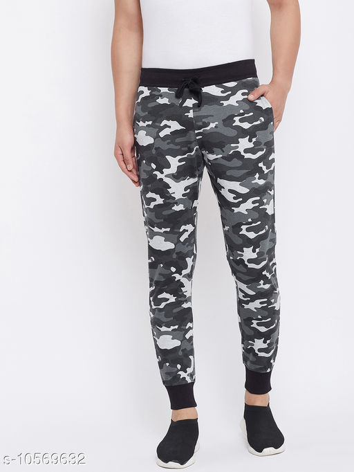 Austin Wood Men's Multicolor Camouflage Printed Slim Fit Trackpant