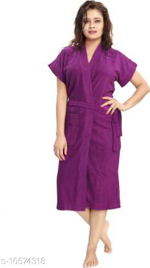 Bathrobes Fancy Women Bathrobes  *Material* Cotton  *Pattern * Solid  *Type* Bathrobe  *Multipack* 1  *Sizes*   *Free Size (Bust Size* Up to 38 in, Up to 42 in, Length Size  *Sizes Available* Free Size *    Catalog Name: Fancy Women Bathrobes CatalogID_1934752 C76-SC1051 Code: 648-10574318-