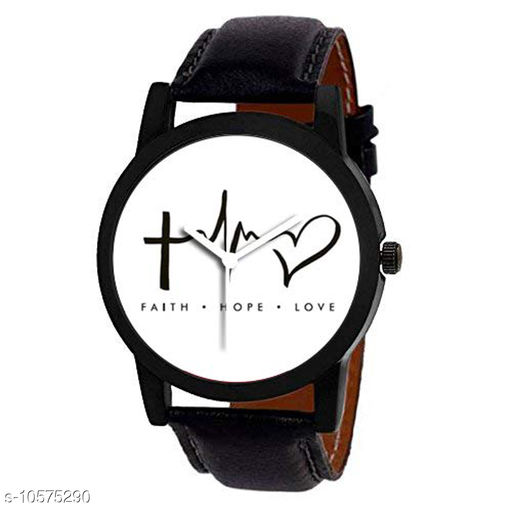 Hope-Faith-Love Edition Analog Wrist Watch