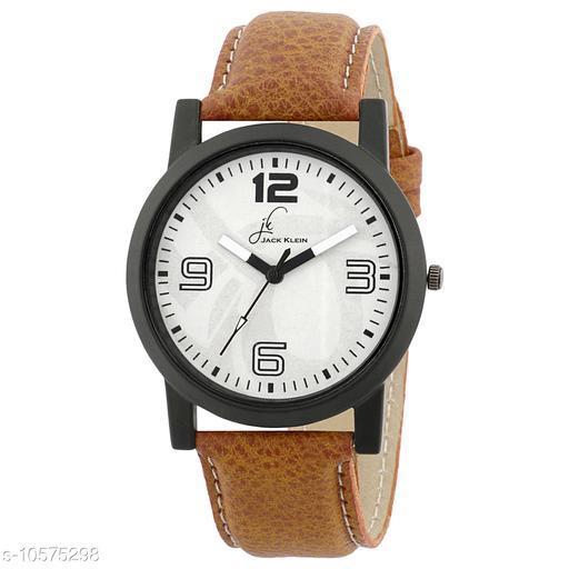White Dial Brown Strap Quartz Analogue Wrist Watch