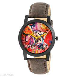 Brown Strap Graphic Edition Watch