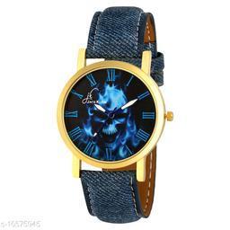 Blue Colour Stylish Denim Finish Watch