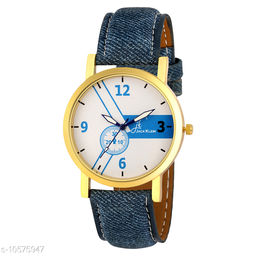 Denim Finish Graceful Wrist Watch